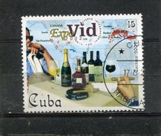 CUBA. 2002. SCOTT 4209. EXPOVID 2002 WINE EVENT. CIGAR SMOKERS, WINE BOTTLES AND CLASSES, MAP OF WINE PRODUCING AREAS - Cuba