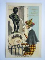 Souvenir De  BRUXELLES  -  MANNEKEN-PIS  :  Formidaaable !!!  (Carte Gaufrée) - Monuments, édifices