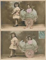 ENFANTS -  LITTLE GIRL - MAEDCHEN - Lot De 2 CPA Portrait Fillettes Et Oeuf De Pâques - Portraits