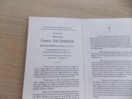 Doodsprentje Omer Salembier Neuve église 14/2/1926 - 3/2/2003 (Jeanne Lecomte ) - Religion & Esotérisme