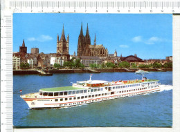 KD  KOLN   -  DUSSELDORFER   -   Kabinenschiff   DEUTSLAND - Steamers