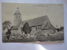 Cpa 78 - MONTCHAUVET L'Eglise - Vue Cimetiere - Animée - Sonstige Gemeinden