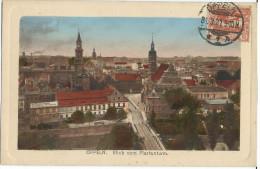 CPA Couleur SILESIE - OPPELN OPOLE - Gorzów Śląski - Plebiscite De 1921 - Blick Vom Piastenturm - Cachet 1921 - Polen