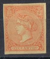 Sello 12 Cuartos Isabel II,, Repro Segui, Num 82 * - 1850-68 Kingdom: Isabella II