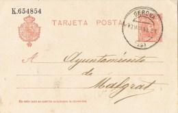 8208. Entero Postal PUENTE MAYOR (Gerona) 1910. Fechador Gerona. VARIEDAD - Enteros Postales
