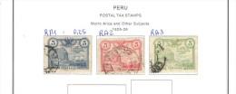 Peru'  1925/67  18 Used Stamps Postal Taxe .    See 4 Scan - Peru
