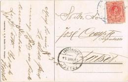 8211. Postal RIUDECOLS (Tarragona) 1914, Fechador Azul - Cartas