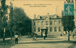 80 FRIVILLE ESCARBOTIN / Place Du Marché Aux Porcs, L'Ecole Maternelle Et La Mairie, Escarbotin / - Friville Escarbotin