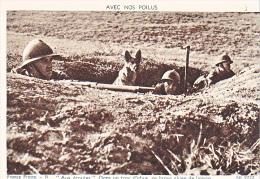 23714 Guerre 1914-18 Avec Nos Poilus -france Presse 51 Dolly 9722 -trou Obus Brave Chien Laison Message Soldat