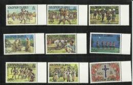 SOLOMON ISLANDS ISOLE SALOMONE 1983 CHRISTMAS NATALE NOEL NAVIDAD NATAL FOLKLORE FOLCLORE MNH - Isole Salomone (1978-...)