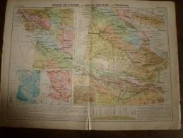 1913  Cartes Géographiques Ancienne ( Région Ouest,Bassin Aquitain,Pyrénées, Région Alpes ,Jura, Région Méditerranéenne) - Geographical Maps