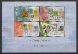 Singapore (2004) Yv. Bf. 111  /  Sello Sobre Sello - Timbre Sur Timbre - Stamp On Stamp - Postzegels Op Postzegels