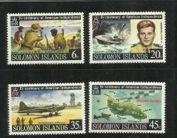 SOLOMON ISLANDS ISOLE SALOMONE 1976 AMERICAN INDEPENDENCE INDIPENDENZA AMERICANA MLH - Isole Salomone (1978-...)