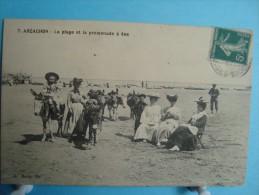 33 - Arcachon - La Plage Et La Promenade à âne - Arcachon