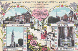 23728 Saint Germain Crioult -14 France - Sanctuaire Sacré Coeur Esperance Salut Malades Jesus Divin Medecin -multivues - Lieux Saints