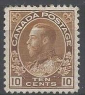 1922 10 Cents, Yollow-brown, King George V, Mint Light Hinged - Neufs