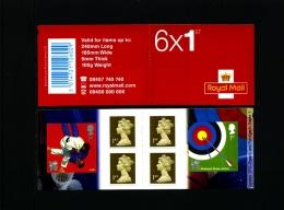 GREAT BRITAIN - SELF-ADHESIVE BOOKLET 6 X 1st  OLYMPICS  No 1  MINT NH  PM 21 - Libretti
