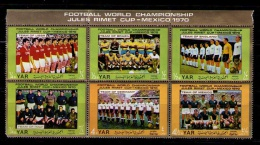 YEMEN ARAB REPUBLIC 1970 - WORLD CUP MEXICO '70 - 6 STAMPS OF THE TEAMS - Yemen