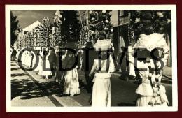 TOMAR - FESTA DOS TABULEIROS - CORTEJO DE UMA FREGUESIA - PROVA DE EDITOR - 1950 REAL PHOTO PC - Santarem