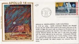 USA Stamp On Colorano Silk Cachet Cover, Apollo 14 - Stati Uniti