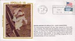 USA Stamp On Colorano Silk Cachet Cover, Apollo 15 - Stati Uniti