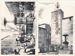 (11) Aude - Conilhac Du Plat Pays - L'Horloge & La Place - Carte DOUBLE En Très Bon état - France