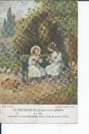STE THERESE DE L'ENFANT JESUS A 4 ANS COMPTANT SES PRATIQUES DE VERTU AVEC SA SOEUR CELINE - Santi