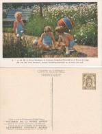1937 - Carte Illustrée - Souvenir De La Reine Astrid - Prince Baudouin, Princesse Joséphine-Charlotte Et Le Prince De Li - Enteros Postales