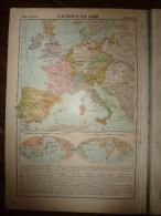 1913  Cartes Géographiques Ancienne ; EUROPE Au XVIe Siècle; FRANCE Des Valois; EUROPE En 1498 ; EUROPE Au XVIe Siecle - Geographical Maps