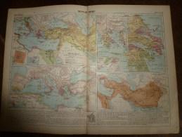 1913  Cartes Géographiques Ancienne ; MONDE GREC ; MONDE ROMAIN ; MONDE ORIENTAL ANCIEN - Geographical Maps