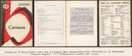 ´´  Carmen ´´ De Mérimée, Chez Bordas ( 1966 ) En 126 Pages - Theatre