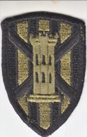 FULL SIZE PATCH    7 TH  ENGR.  BRIGADE  COMBAT  O.D. - Patches