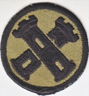 FULL SIZE PATCH    16 TH  ENGR.  BRIGADE  COMBAT  O.D. - Patches