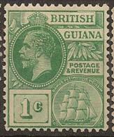 BRITISH GUIANA 1921 1c KGV SG 272 HM #BC154 - British Guiana (...-1966)