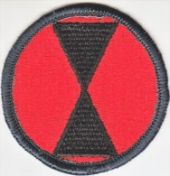 FULL SIZE PATCH    7 TH.  INFANTRY  DIV. - Patches