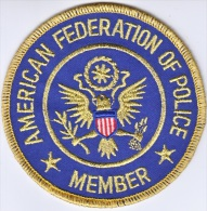 FULL SIZE PATCH    AMERICAN  FEDERATION  OF  POLICE  MEMBER - Police