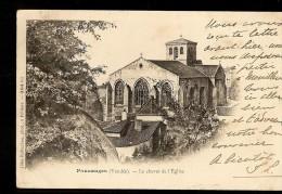 CPA 85 POUZAUGES Le Chevet De L'Eglise ( Cachet Postale ) - Pouzauges