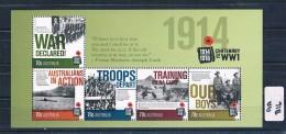 Australia  2014  World War 1  M/sheet Muh AA216 - Nuovi