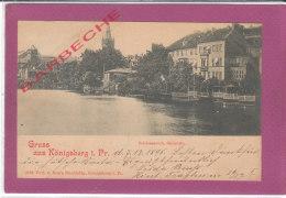 GRUSS AUS KÖNIGSBERG I.Pr. - Schlossteich, Sudseite - Ostpreussen