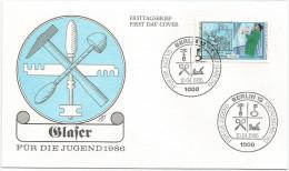 Allemagne Berlin 1986 715 FDC - Artisanat - Vitrier - FDC: Buste