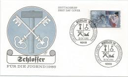 Allemagne Berlin 1986 716 FDC - Artisanat - Serrurier - [5] Berlijn