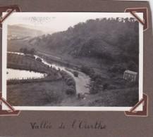 Photo Originale 1932 Ourthe Entre Sy Et Bomal Logne Belle Vue De La Vallée Chemin De Fer - Orte