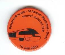 CHEMIN DE FER - TRAINS - Boite SNCF - 2 Bts Vides - Desserte BOURGES St AMAND-MONTROND NOUVEL AUTORAIL TER 16/06/2001 - Ferrovie