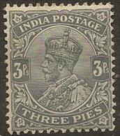 INDIA 1911 3p Slate KGV SG 154 HM #BC313 - India (...-1947)