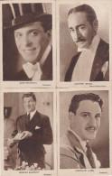 LOT-4 POSTCARDS-MOVIE STARS-FERDINAND FABRE-JACK BUCHANAN-GEORGE BANCROFT-ADOLPHE MENJOU-NOT USED-VINTAGE-CINEMA-2 SCANS - Artistes