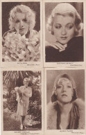 LOT-4 POSTCARDS-MOVIE STARS-MARION DAVIES-CONSTANCE BENNETT-ANITA PAGE-DOLORES COSTELLO-NOT USED-VINTAGE-CINEMA-2 SCANS - Artistes