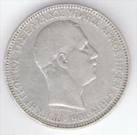GREECE - CRETE ISLAND - 5 DRACHMAI (1901) - Prince GEORGE I - - Grèce