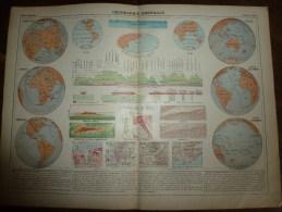 1913  Cartes Géographiques Ancienne ; GEOGRAPHIE Générale ; MAPPEMONDE ; COSMOGRAPHIE - Geographical Maps