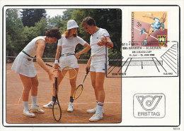 D16846 CARTE MAXIMUM CARD 1982 AUSTRIA - TENNIS CP ORIGINAL - Tennis