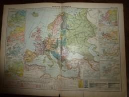 1913  Cartes Géographiques Ancienne ; EUROPE Politique ; GRANDE BRETAGNE Et IRLANDE ; EUROPE Physique - Geographical Maps